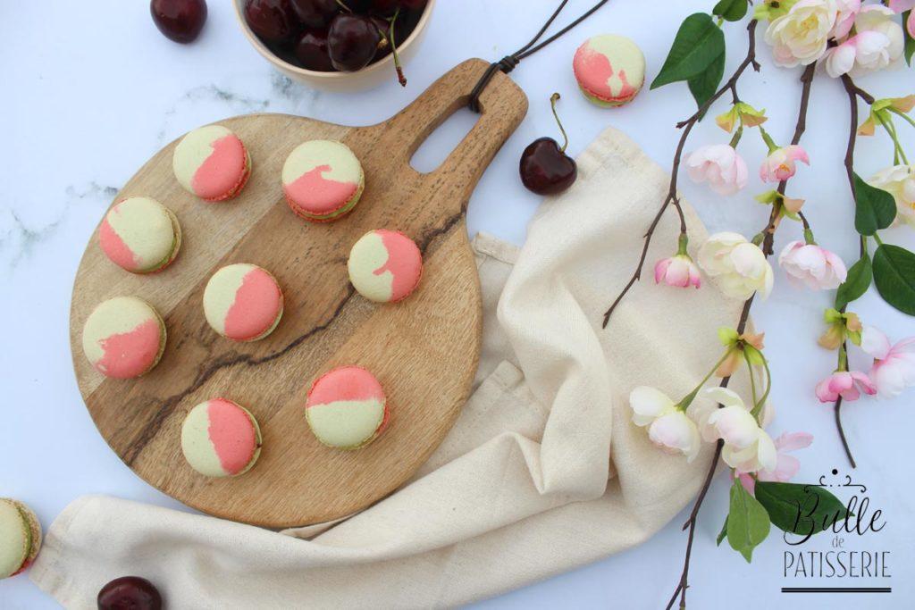 Recette de macarons : Pistache & Cerise