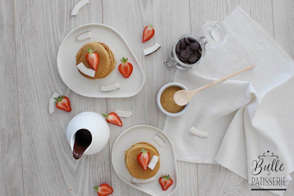 Recette sans lactose : pancakes au lait de coco