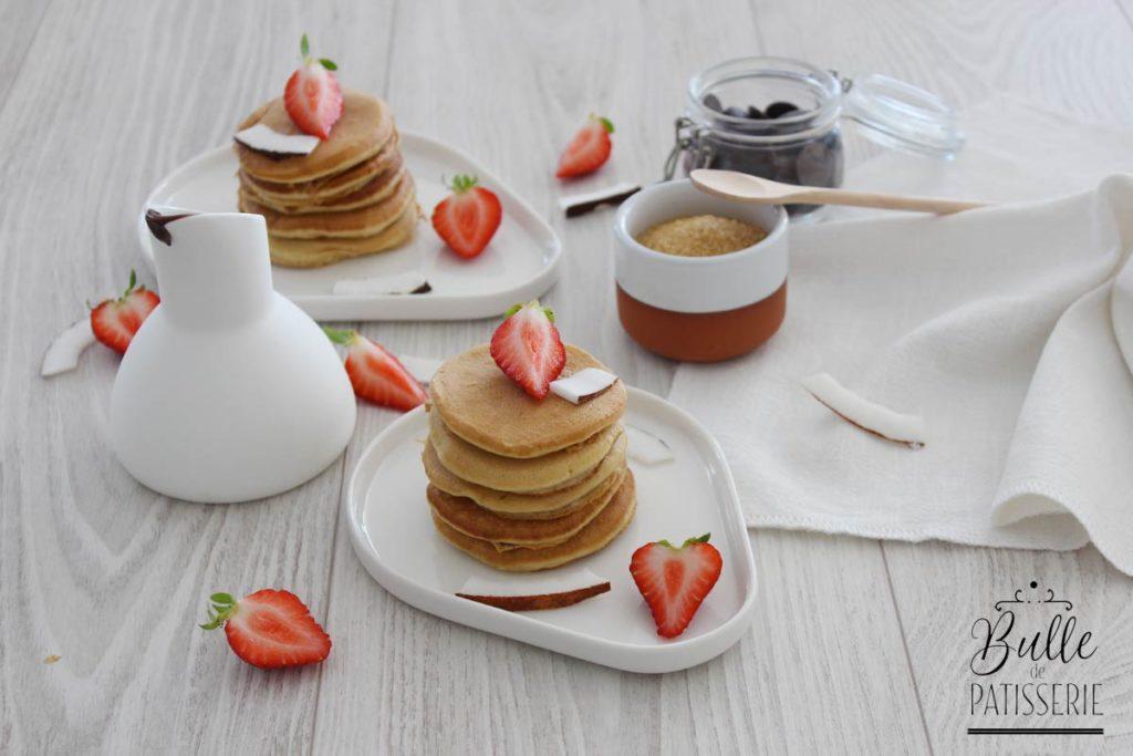 Pancakes sans lait de vache (lait de coco) et sans temps de repos