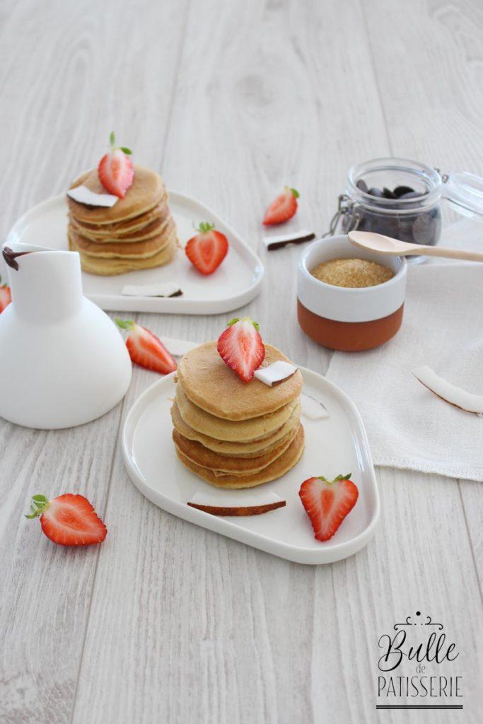 Recette pour le petit déjeuner : pancakes au lait de coco