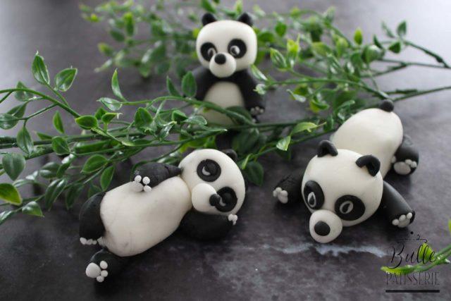 Tuto Panda en Pâte à Sucre