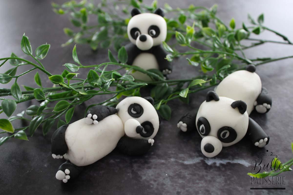 Tuto pâte à sucre : les pandas