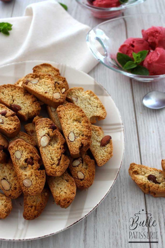 Recette des Biscotti : biscuits secs aux amandes