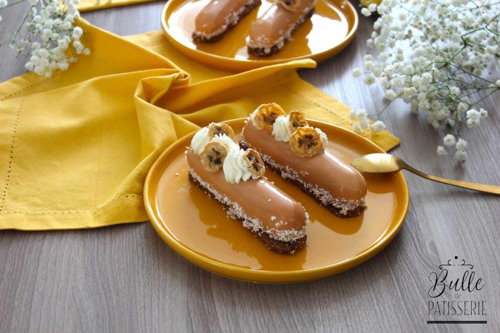 Entremets Banane-Caramel maison