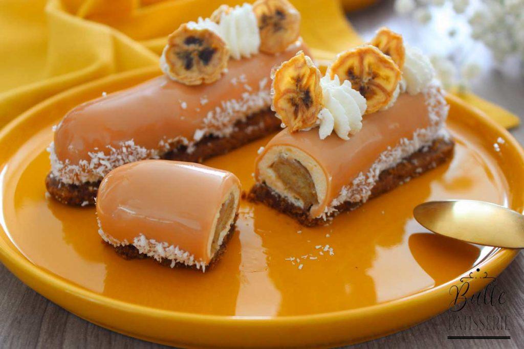 Recette d'entremets maison : banane-caramel