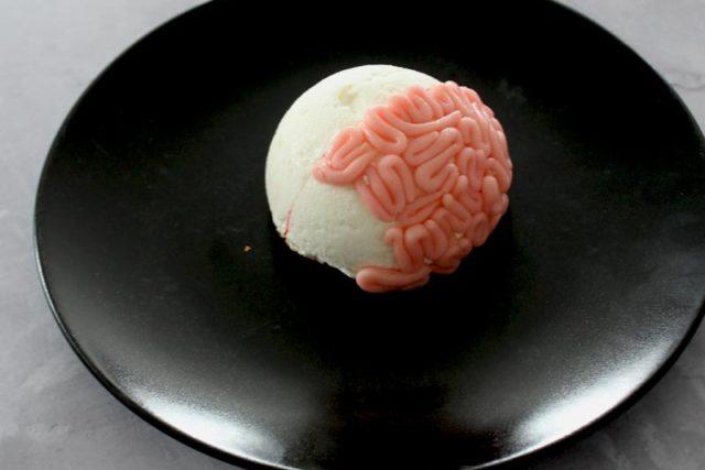 Préparation du Brain Cake d'Halloween