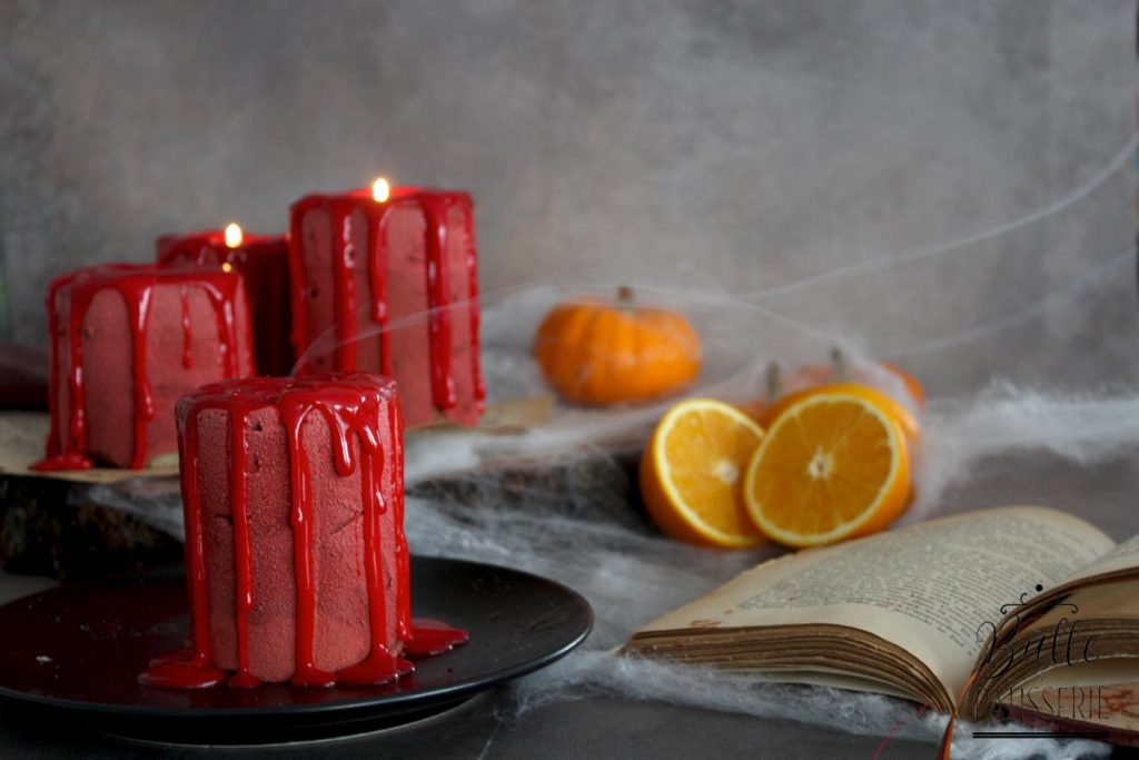 Entremets Candle Cake d'Halloween : Orange-Chocolat