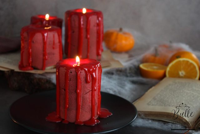 Candle Cake d'Halloween – Entremets Bougie Orange-Chocolat