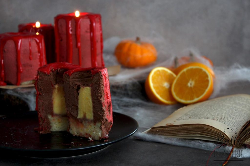Candle Cake d'Halloween : entremets bougie orange-chocolat
