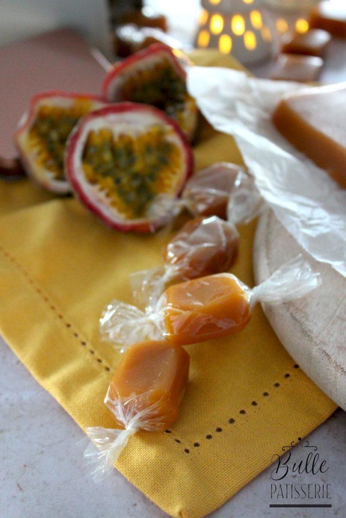 Recette de Noël : Caramels mous aux fruits de la passion