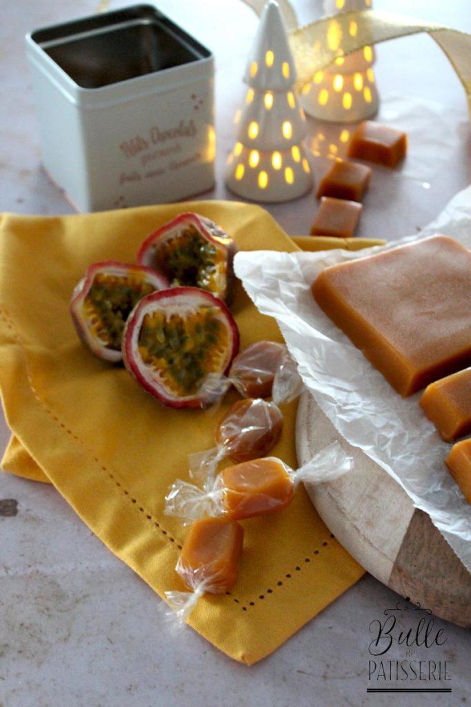 Idée cadeau de Noël : caramels mous à la passion