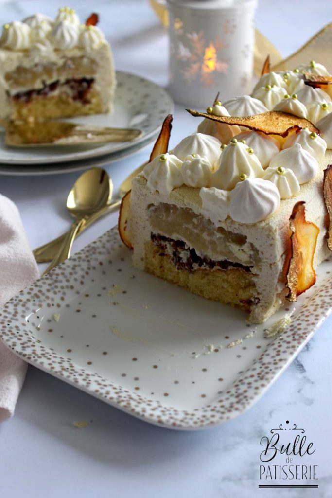 Dessert Festif : entremets Poire-Tonka