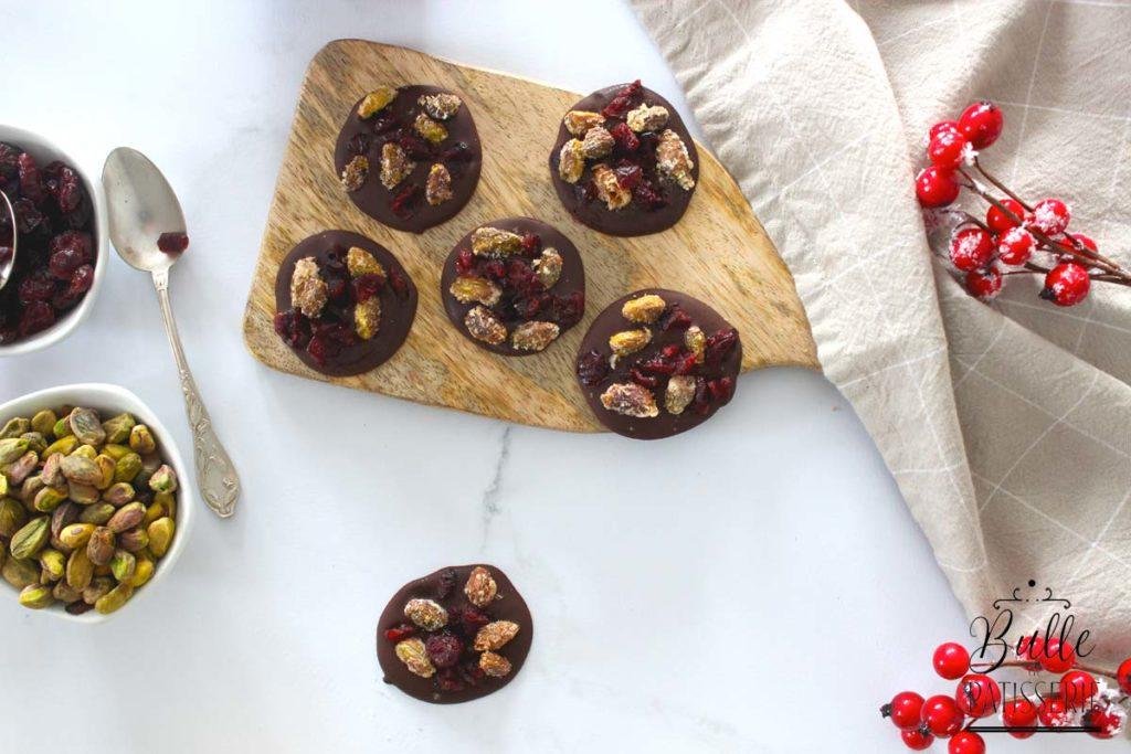 Recette de Noël : mendiants au chocolat noir
