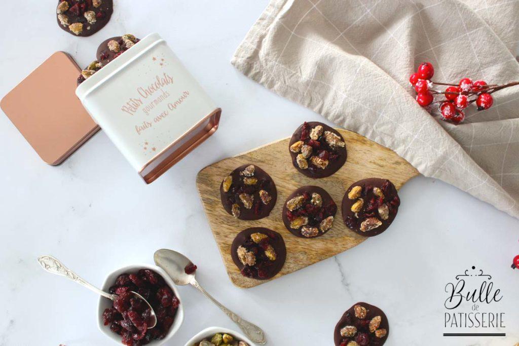 Recette facile : mendiants au chocolat