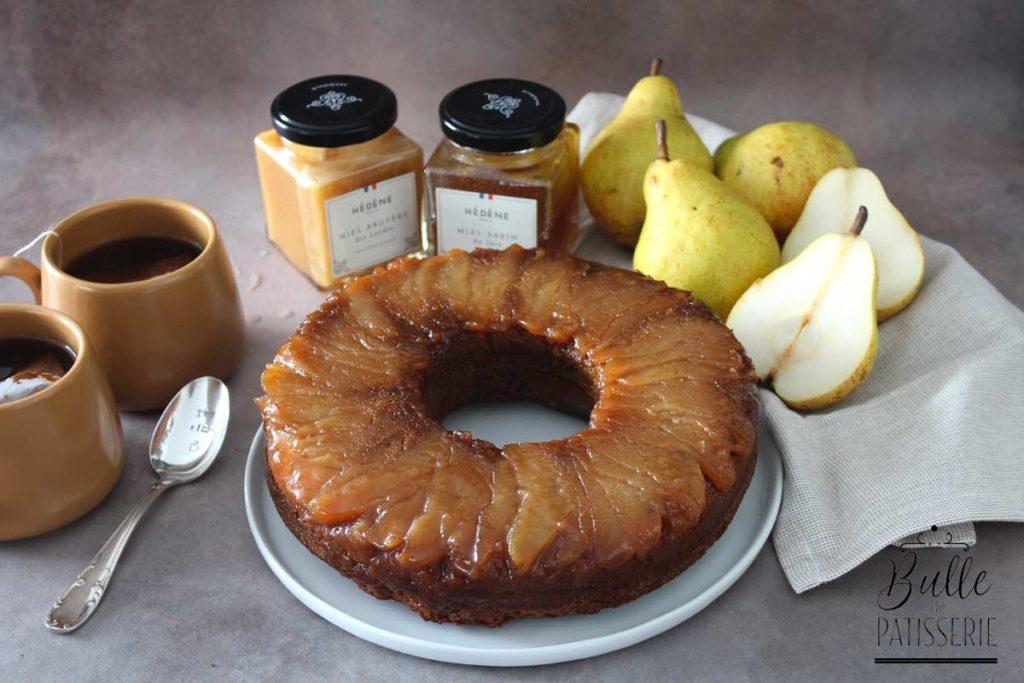 Recette gourmande : pain d'épices aux poires caramélisées