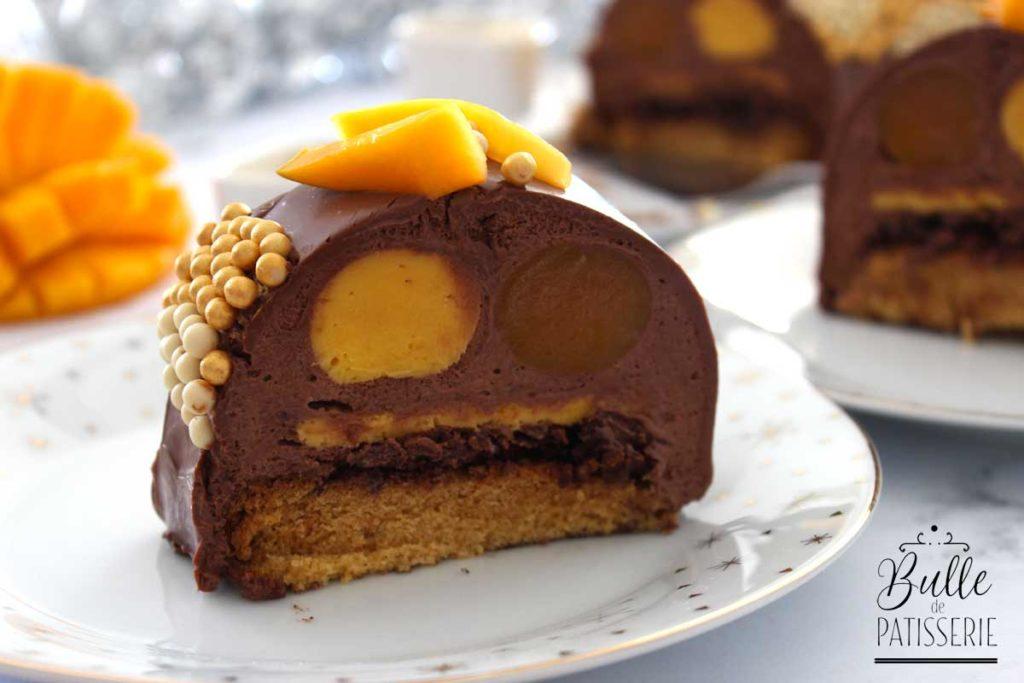 Recette de bûche : Mangue-Chocolat