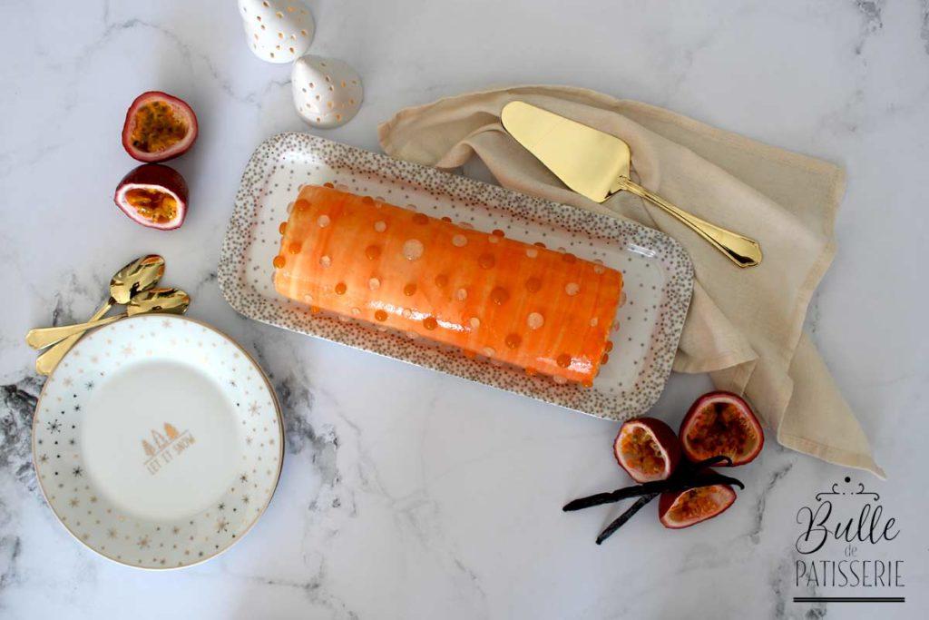 Recette de Noël : bûche Vanille-Fruits de la Passion-Rhum