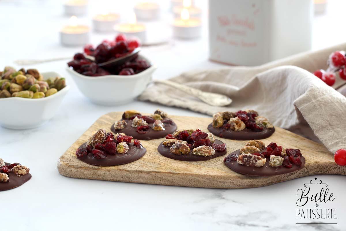 Recette des mendiants Pistaches-Cranberries