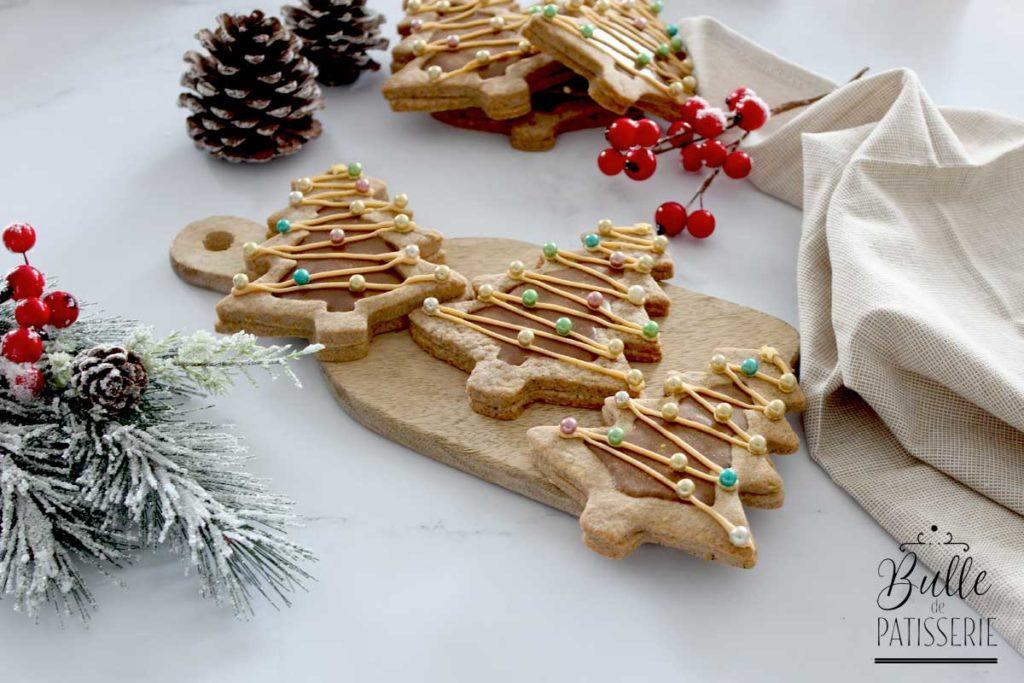 Sablés de Noël cœur chocolat-praliné