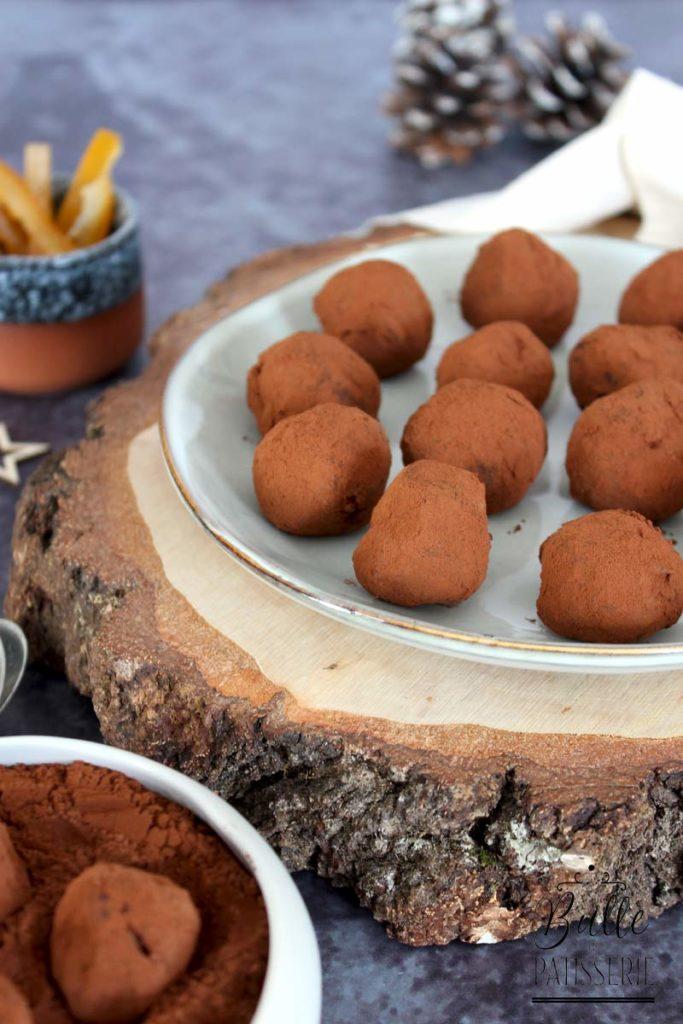 Recette de Noël : truffes chocolat noir-orange