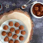 Mignardises maison : truffes chocolat-orange