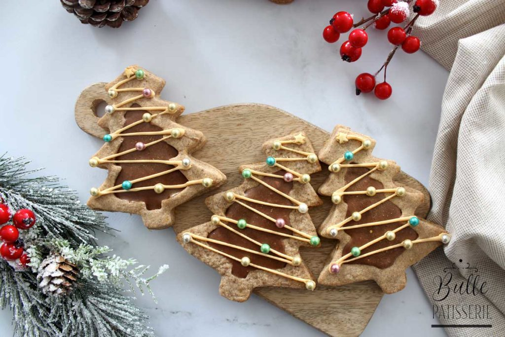Recette facile de Noël : sablés cœur chocolat-praliné