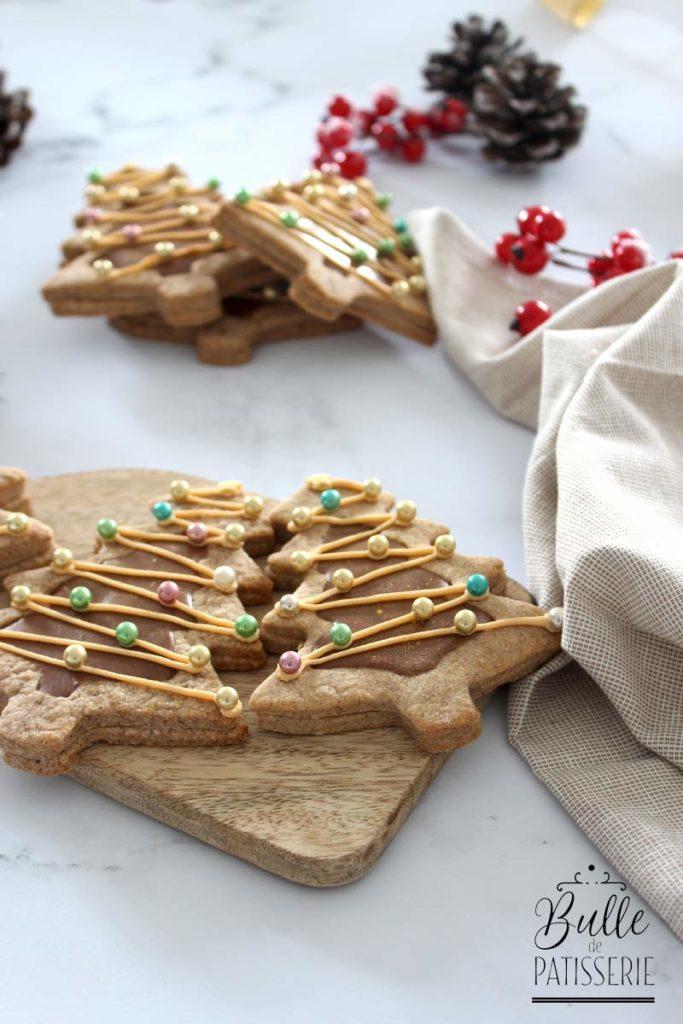 Recette de Noël : sablés cœur chocolat-praliné