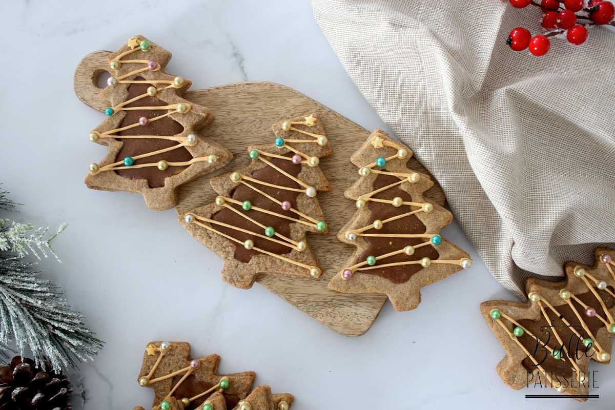 Biscuits de Noël faciles : sablés cœur chocolat-praliné