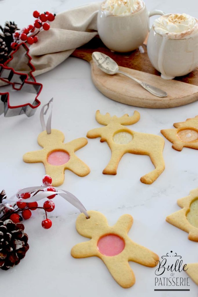 Petits biscuits de Noël : les sablés vitraux