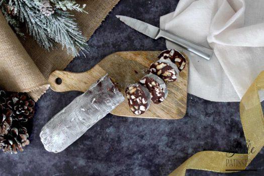 Saucisson de Noël : chocolat, petits beurres et chamallows