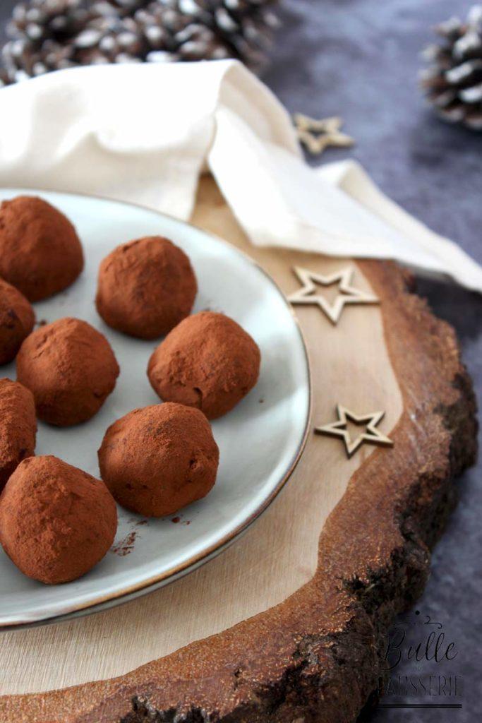 Recette de mignardises : truffes chocolat-orange