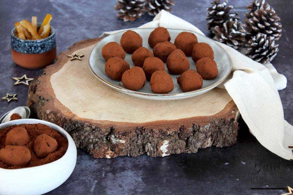 Recette de Noël facile : truffes chocolat-orange