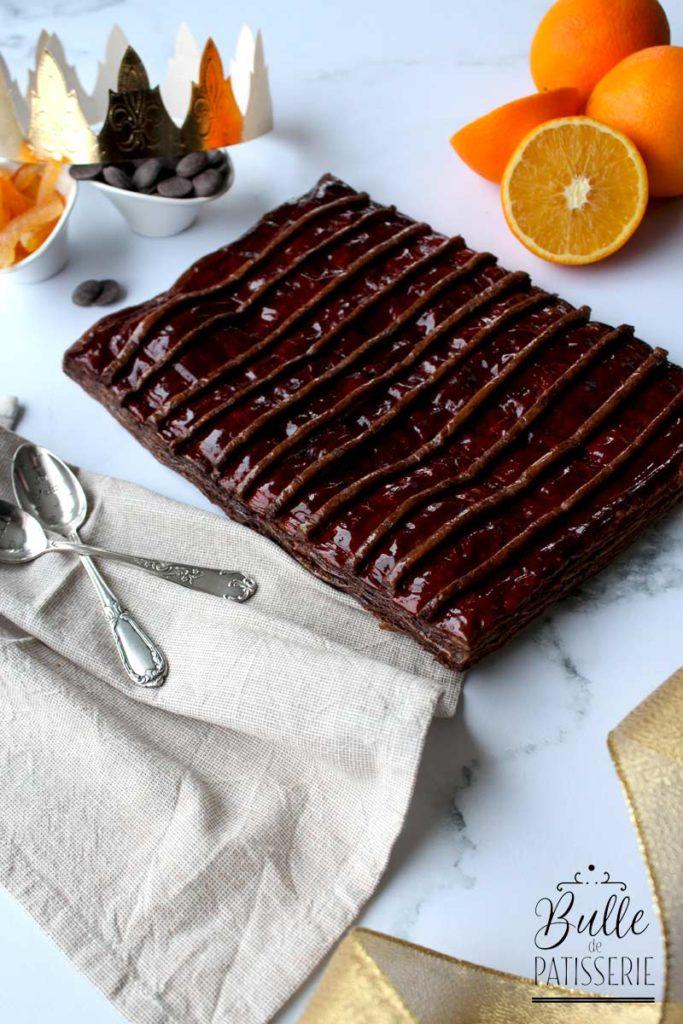 Galette des rois feuilletage chocolat