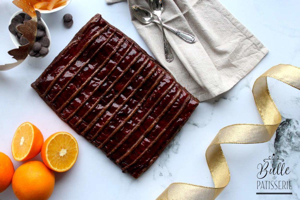 Galette des rois : parfum Orange-Chocolat