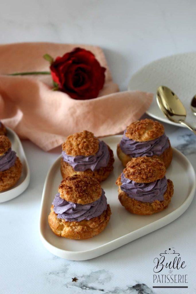 Dessert de Saint Valentin : choux à la myrtille