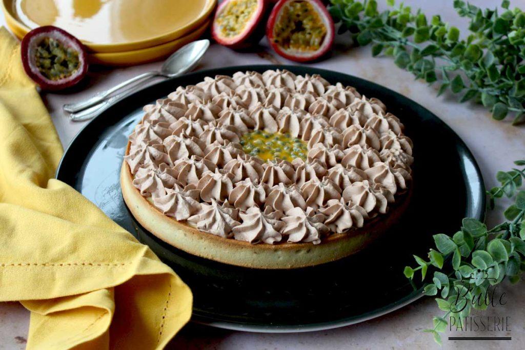 Recette facile : tarte chocolat et passion