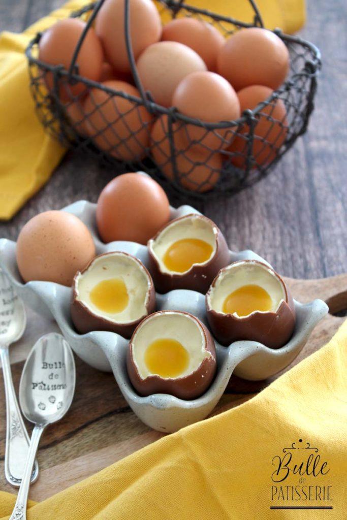 Dessert de Pâques : œuf en trompe-l'œil