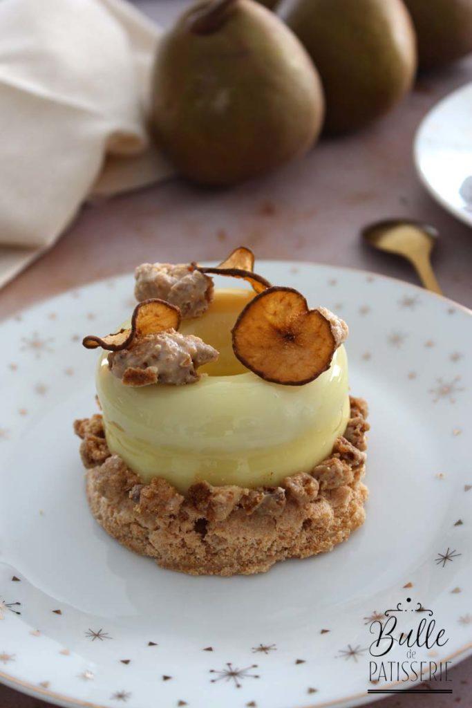 Dessert : entremets Poire-Vanille