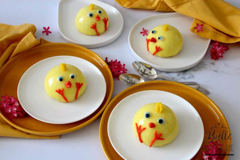 Pâques : Entremets Poussin Vanille-Mangue