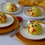 Entremets de Pâques en forme de poussin