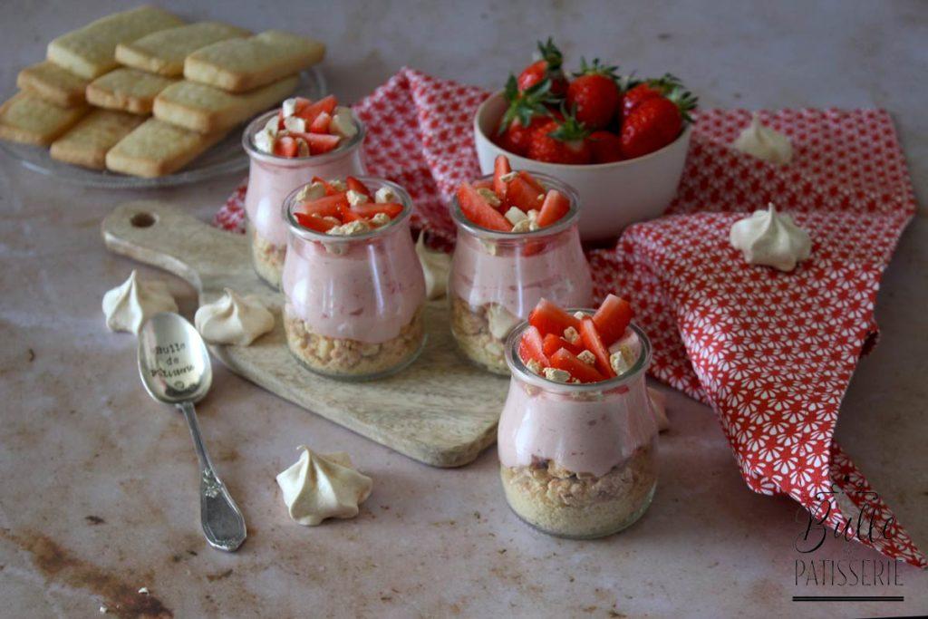 Dessert en verrines : mousse de fraises