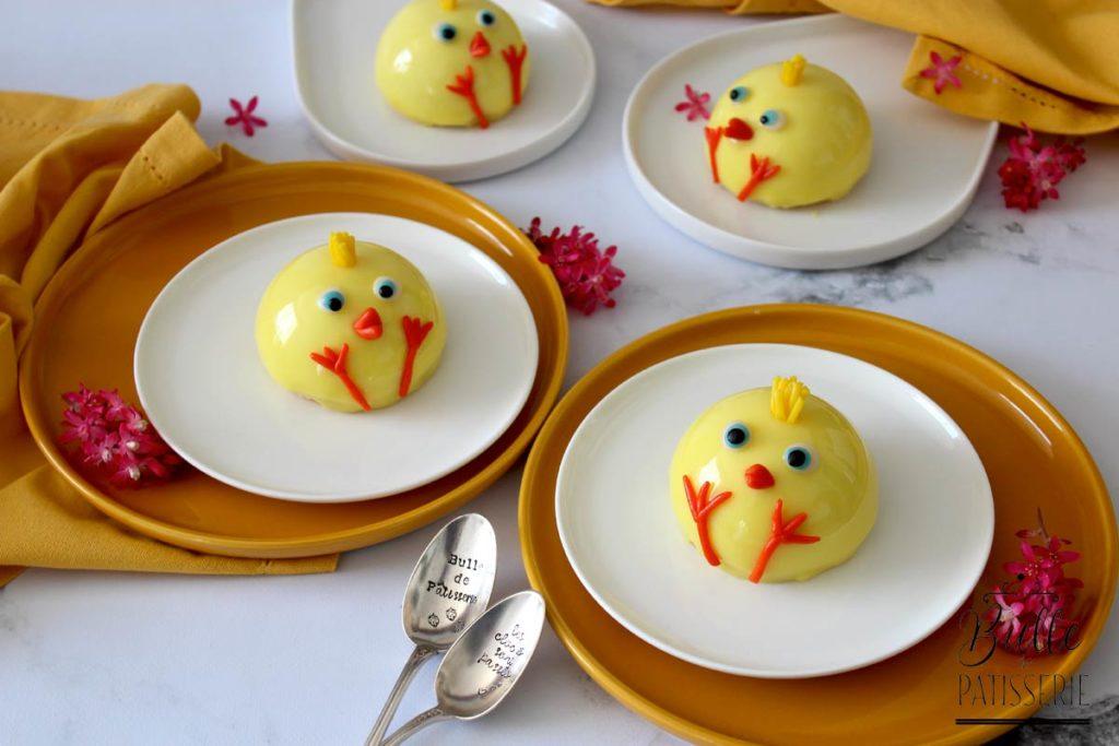 Entremets de Pâques : Vanille-Mangue