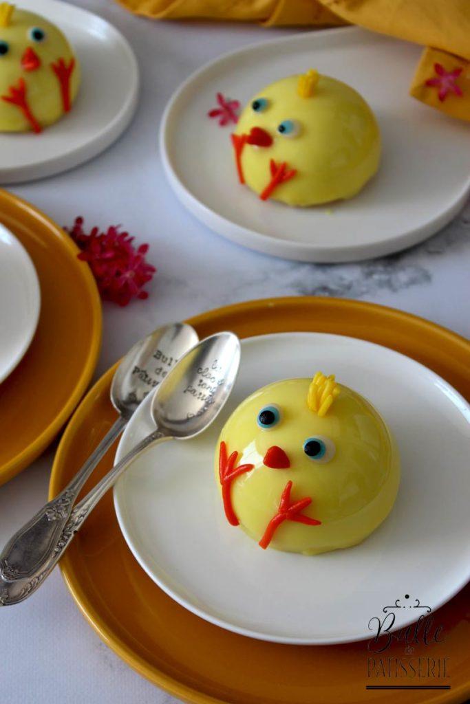 Recette de Pâques : entremets Poussin