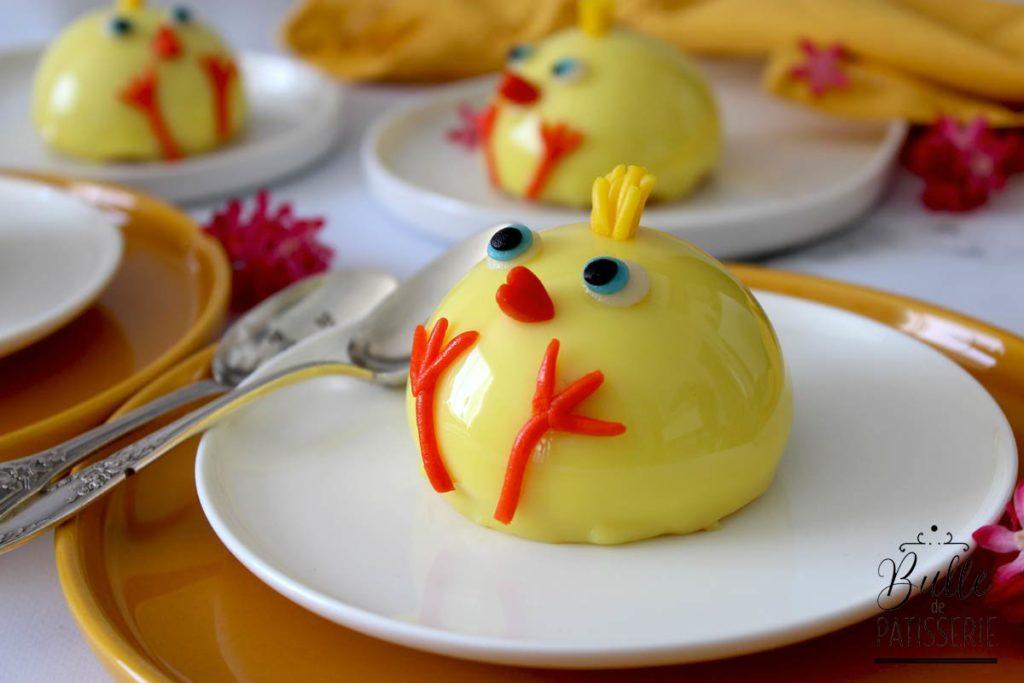 Recette de Pâques : entremets Vanille-Mangue