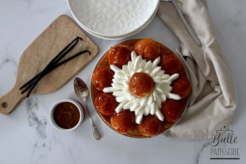 Comment faire un Saint Honoré Caramel au beurre salé et vanille