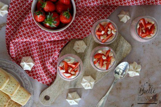 Recette facile : Verrines mousse de fraises