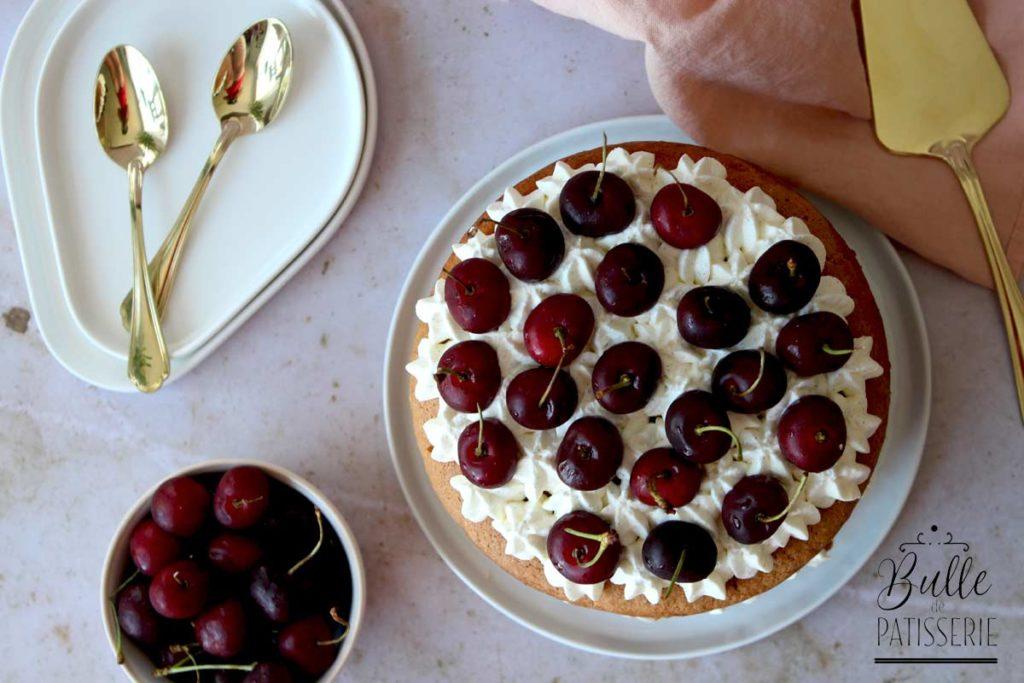 Recette gourmande : Molly Cake Cerises-Chantilly