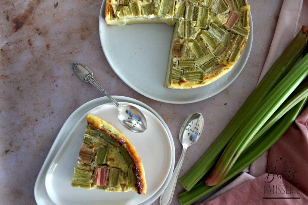 Dessert maison : clafoutis à la rhubarbe