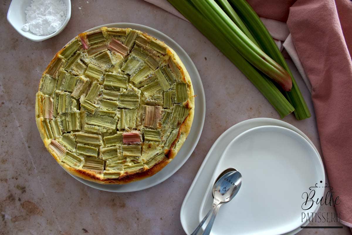 Recette facile : clafoutis à la rhubarbe