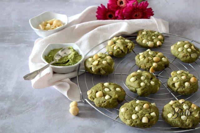 Cookies Matcha – Chocolat blanc – Macadamia